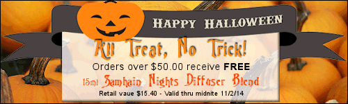 free bottle of Samhain Nights with purchase!
