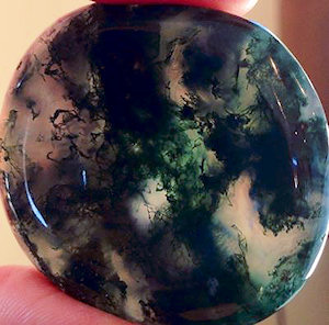 Moss Agate Worry Stone